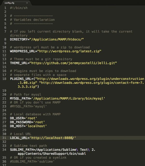editar archivo .command